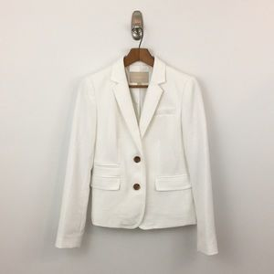 Banana Republic ivory two-button blazer